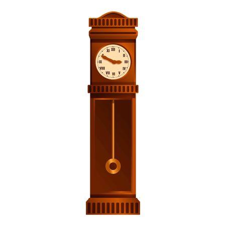 House pendulum clock icon. Cartoon of house pendulum clock vector icon for web design isolated on white background Stockfoto - 147364516