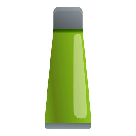 Travel water bottle icon. Cartoon of travel water bottle vector icon for web design isolated on white background Illusztráció