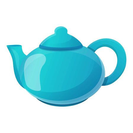 Tea pot icon. Cartoon of tea pot vector icon for web design isolated on white background