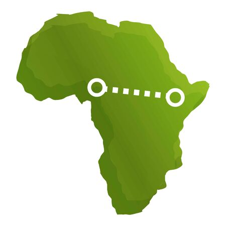 Africa safari route icon. Cartoon of africa safari route vector icon for web design isolated on white background