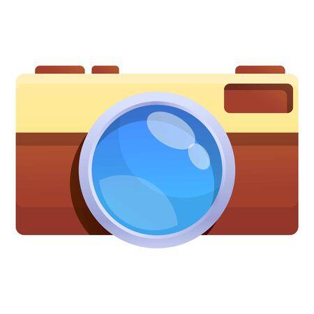 Safari photo camera icon. Cartoon of safari photo camera vector icon for web design isolated on white background Vectores