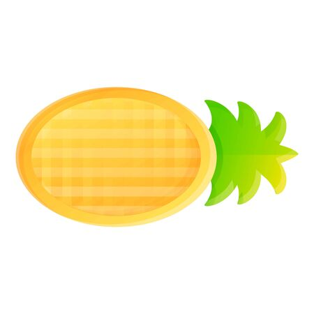 Inflatable pineapple mattress icon. Cartoon of inflatable pineapple mattress vector icon for web design isolated on white background