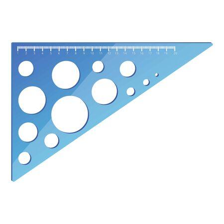 Geometric angle ruler icon. Cartoon of geometric angle ruler vector icon for web design isolated on white background Ilustracja