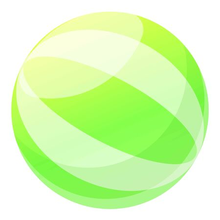 Aqua ball icon. Cartoon of aqua ball vector icon for web design isolated on white background