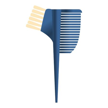 Color hairbrush icon. Cartoon of color hairbrush vector icon for web design isolated on white background