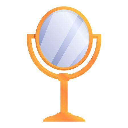 Stylist mirror icon. Cartoon of stylist mirror vector icon for web design isolated on white background Ilustracja