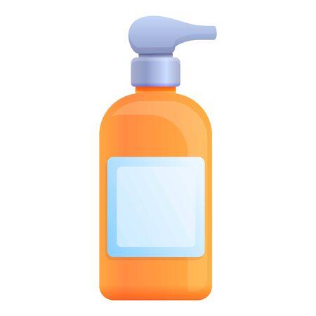 Soap dispenser bottle icon. Cartoon of soap dispenser bottle vector icon for web design isolated on white background