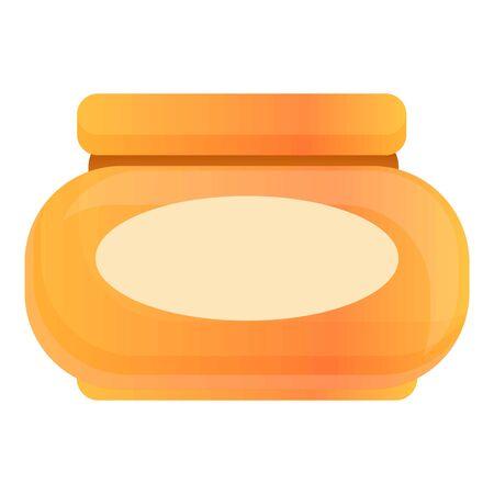 Stylist cream jar icon. Cartoon of stylist cream jar vector icon for web design isolated on white background