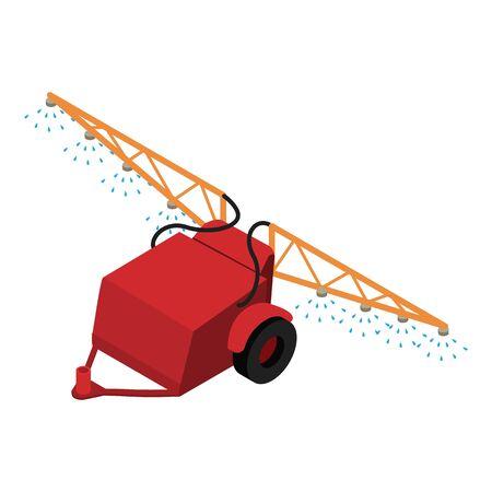 Farm spray trailer icon. Isometric of farm spray trailer vector icon for web design isolated on white background