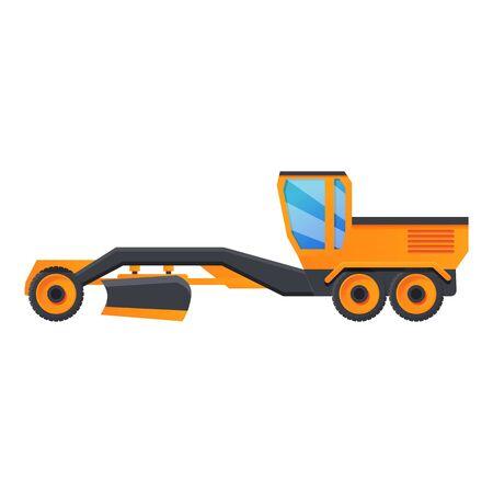 Grader machine vehicle icon. Cartoon of grader machine vehicle vector icon for web design isolated on white background