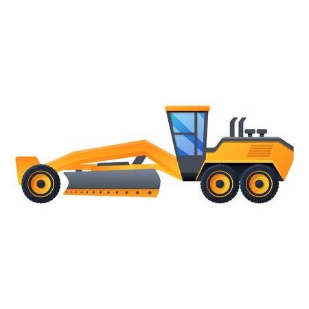 Demolition grader machine icon. Cartoon of demolition grader machine vector icon for web design isolated on white background