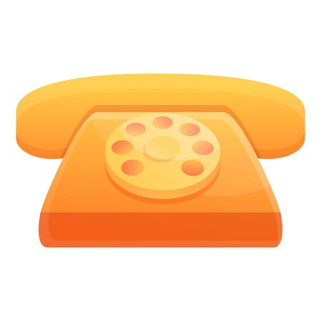 Hotel telephone icon. Cartoon of hotel telephone vector icon for web design isolated on white background
