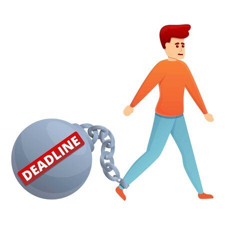 Burden deadline icon. Cartoon of burden deadline vector icon for web design isolated on white background