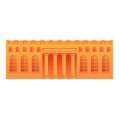 Museum building icon. Cartoon of museum building vector icon for web design isolated on white background Ilustración de vector