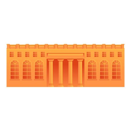 Museum building icon. Cartoon of museum building vector icon for web design isolated on white background