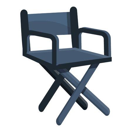 Wood stage director chair icon. Cartoon of wood stage director chair vector icon for web design isolated on white background Vektoros illusztráció