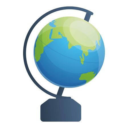 School globe icon. Cartoon of school globe vector icon for web design isolated on white background