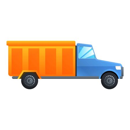 Building truck icon. Cartoon of building truck vector icon for web design isolated on white background