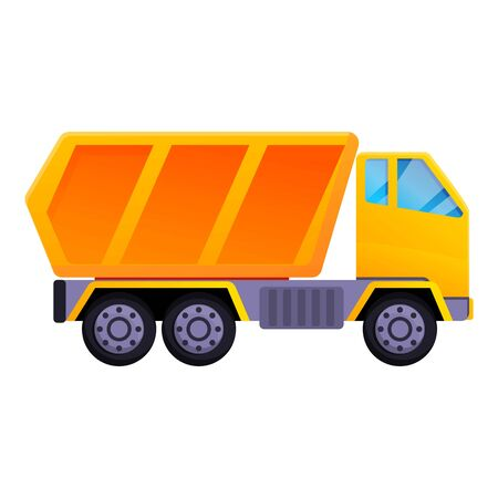 Construction tipper icon. Cartoon of construction tipper vector icon for web design isolated on white background