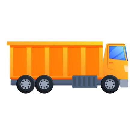 Commercial tipper icon. Cartoon of commercial tipper vector icon for web design isolated on white background Vetores