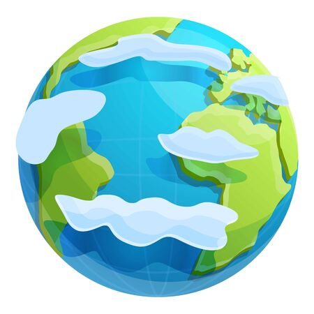Eco planet icon. Cartoon of eco planet vector icon for web design isolated on white background Ilustración de vector
