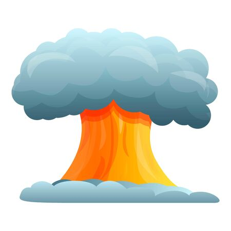 Atomic explosion icon. Cartoon of atomic explosion vector icon for web design isolated on white background Ilustração