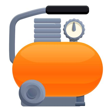 Air compressor icon. Cartoon of air compressor vector icon for web design isolated on white background
