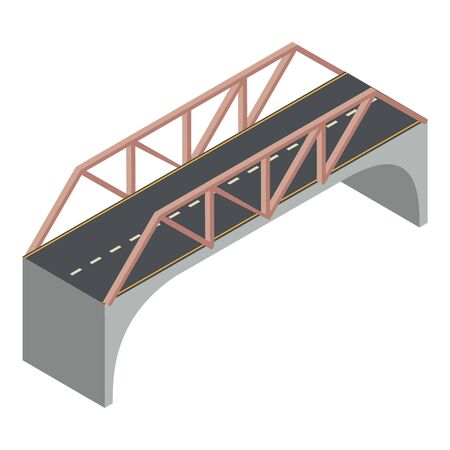 Travel bridge icon. Isometric of travel bridge vector icon for web design isolated on white background