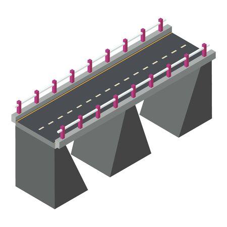 City bridge icon. Isometric of city bridge vector icon for web design isolated on white background
