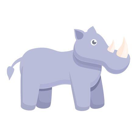 Rhino icon. Cartoon of rhino vector icon for web design isolated on white background 向量圖像
