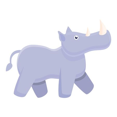 Rhino baby icon. Cartoon of rhino baby vector icon for web design isolated on white background 向量圖像