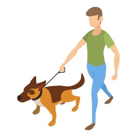 Agility dog training icon. Isometric of agility dog training vector icon for web design isolated on white background Vettoriali