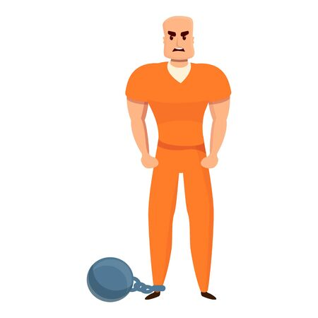 Arrested person icon. Cartoon of arrested person vector icon for web design isolated on white background Stok Fotoğraf - 149633735