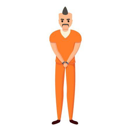 Rocker person prison icon. Cartoon of rocker person prison vector icon for web design isolated on white background