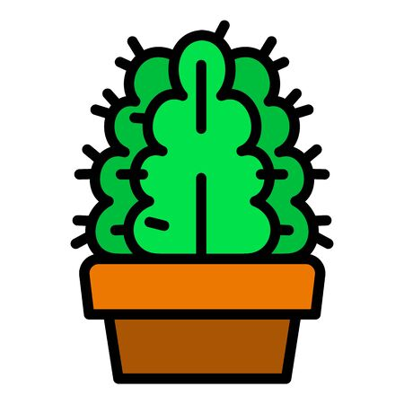 Exotic cactus pot icon. Outline exotic cactus pot vector icon for web design isolated on white background