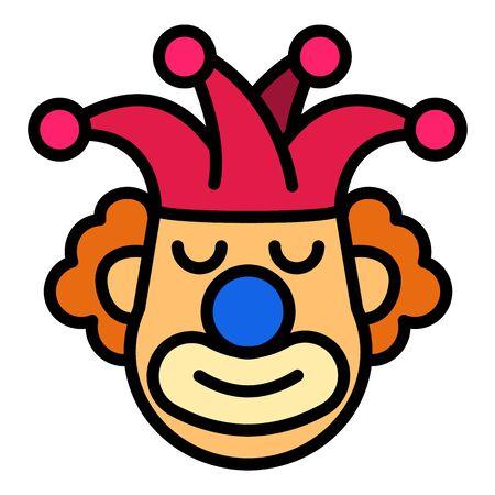 Joker clown icon. Outline joker clown vector icon for web design isolated on white background Ilustração