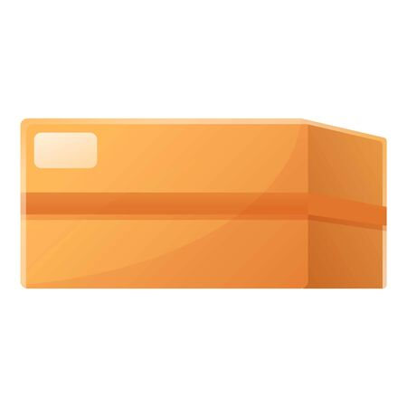 Parcel box icon. Cartoon of parcel box vector icon for web design isolated on white background