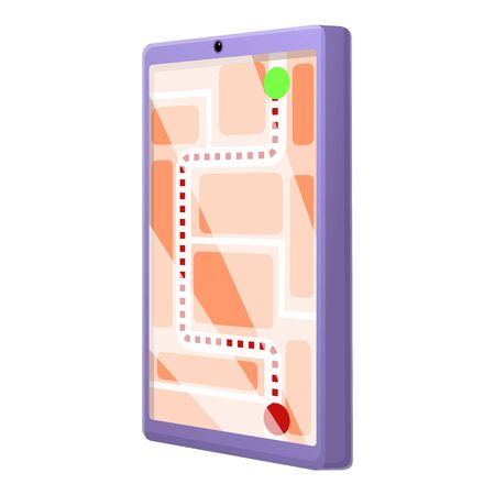 Courier tablet tracking icon. Cartoon of courier tablet tracking vector icon for web design isolated on white background