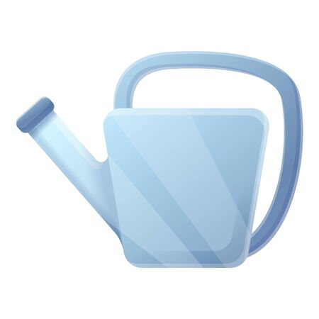 Steel watering can icon. Cartoon of steel watering can vector icon for web design isolated on white background