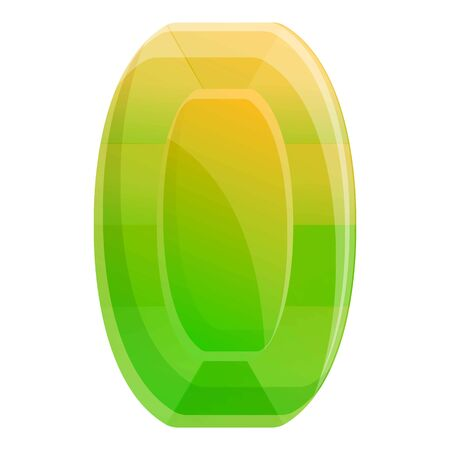 Carat gem icon. Cartoon of carat gem vector icon for web design isolated on white background