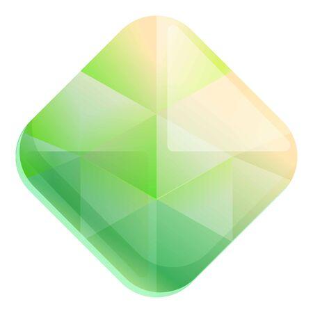 Rock gemstone icon. Cartoon of rock gemstone vector icon for web design isolated on white background