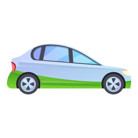 Hybrid vehicle icon. Cartoon of hybrid vehicle vector icon for web design isolated on white background
