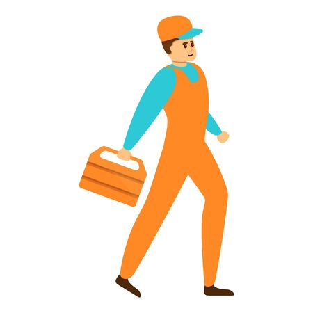 Auto mechanic tool box icon. Cartoon of auto mechanic tool box vector icon for web design isolated on white background Vecteurs