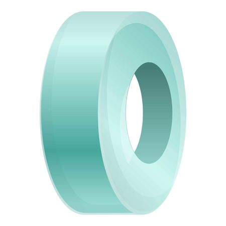 Bandage tape icon. Cartoon of bandage tape vector icon for web design isolated on white background Ilustração