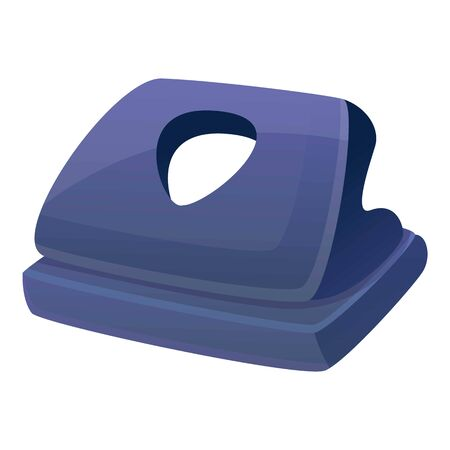 Machine hole puncher icon. Cartoon of machine hole puncher vector icon for web design isolated on white background