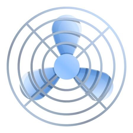 Room air fan icon. Cartoon of room air fan vector icon for web design isolated on white background