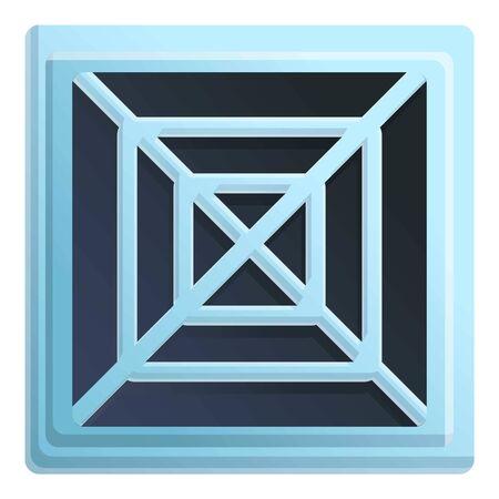 Bathroom ventilation icon. Cartoon of bathroom ventilation vector icon for web design isolated on white background