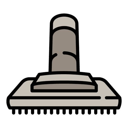 Vacuum cleaner brush icon. Outline vacuum cleaner brush vector icon for web design isolated on white background Stock Illustratie