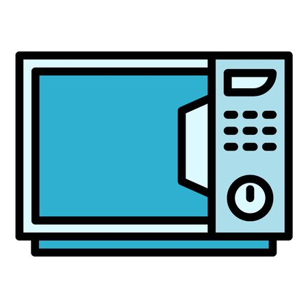 Kitchen microwave icon. Outline kitchen microwave vector icon for web design isolated on white background