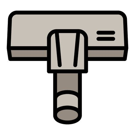 Vacuum cleaner tool icon. Outline vacuum cleaner tool vector icon for web design isolated on white background
